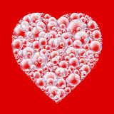red bubble heart