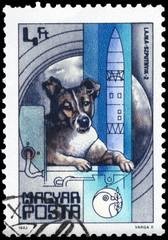 HUNGARY - CIRCA 1982 Laika
