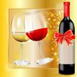 alkoholische getränke - rotwein und weißwein