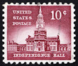 Postage stamp USA 1954 Independence Hall