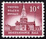 Postage stamp USA 1954 Independence Hall poster