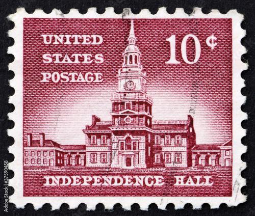 Postage stamp USA 1954 Independence Hall