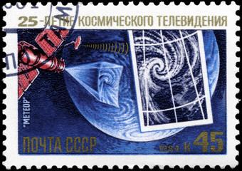 USSR - CIRCA 1984 Meteor Satellite