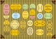 Vintage organic market food labels frames and elements