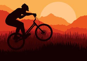 Mountain bike rider in nature