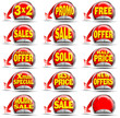 Red Sales Stickers