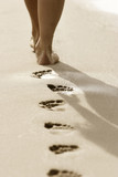 Fototapety Fußspuren