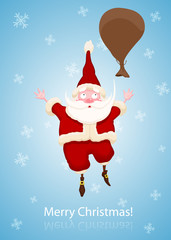 Santa Claus Fall to the sky