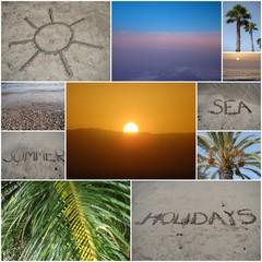 Collage von verschiedenen Urlaubsfotos auf Teneriffa