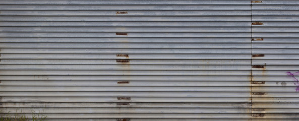 rusted corrugated plate