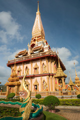 "Thai temple ""Wat Chalong"" Phuket province Thailand"