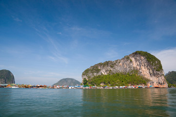 Island and blue sky  at the south of Thailand
