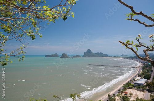 viewpoint at Khao Chong Krajok Prachuap Khiri Khan province Thai