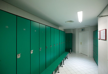 Interior of  locker room