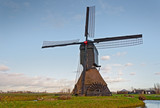Dutch windmill with scoopwheel pump