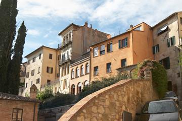 Italy, Montepulciano. Urban architecture