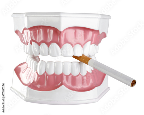 Jawbone with a cigarette