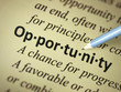 "Close up of the word ""Opportunity"""