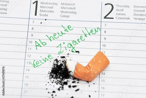 Vorsatz keine Zigaretten ab Neujahr