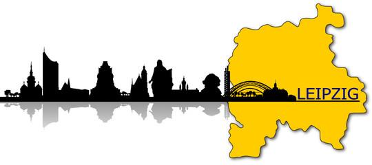 Leipzig Skyline Stadtgebiet