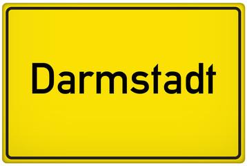 Ortseingangsschild der Stadt Darmstadt