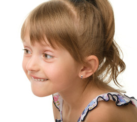 Cute little girl in pink dress