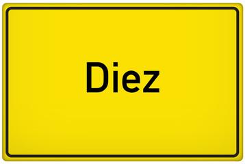 Ortseingangsschild der Stadt Diez