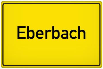 Ortseingangsschild der Stadt Eberbach