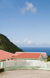 cottage  Saba Dutch Netherlands  Antilles Caribbean sea view on poster