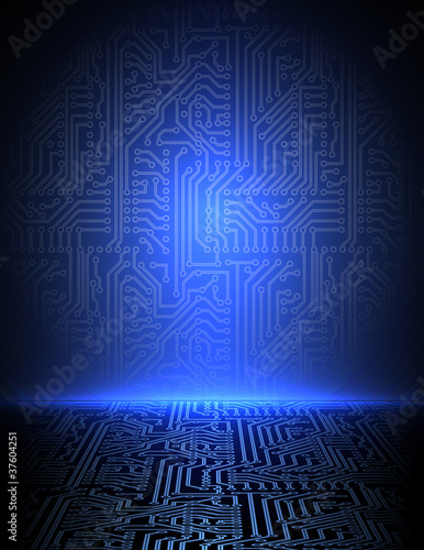 Vector blue electronic background. eps10
