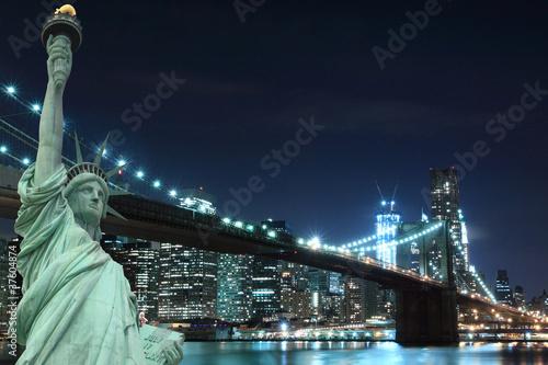 Fototapeten,freiheitsliebe,new york city,bronzo,brücke