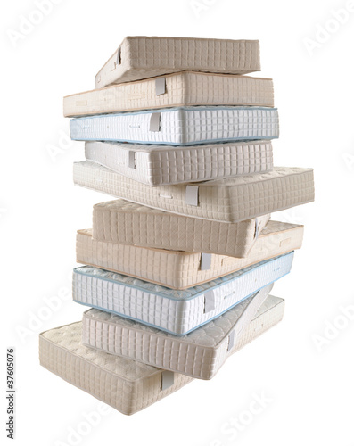 pile of mattresses - 37605076