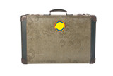 old suitcase isolated with a clipping path