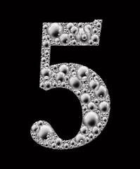 figure 5 bubble font