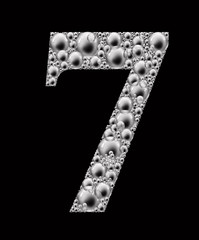 figure seven bubble font
