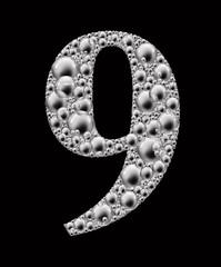 figure 9 bubble font