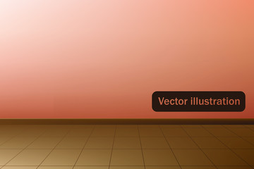 Empty room with a linoleum.  Vector illustration.