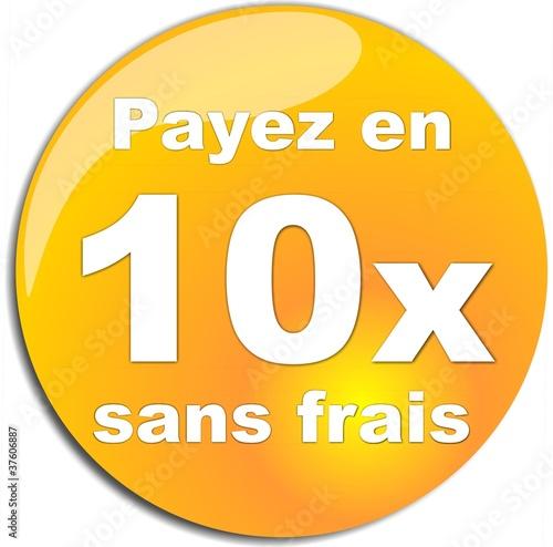 Bouton payer en 10x sans frais de gribouilleeva fichier vectoriel libre de d - Paiement 10x sans frais ...