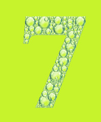 green seven bubbles