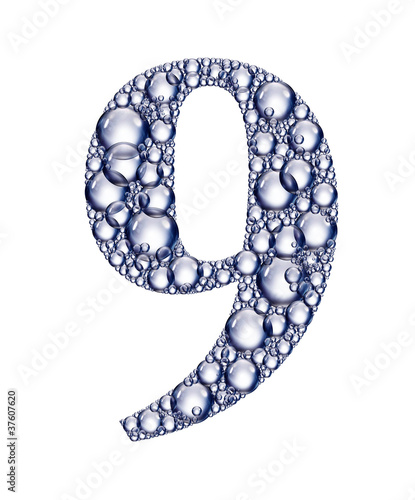 number nine bubbles