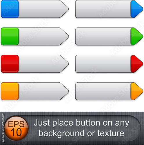 High-detailed modern buttons.