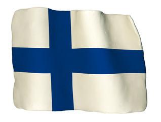 Finlandia bandiera di plastilina