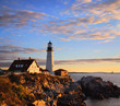 Morning At The Portland Headlight, Portland Maine