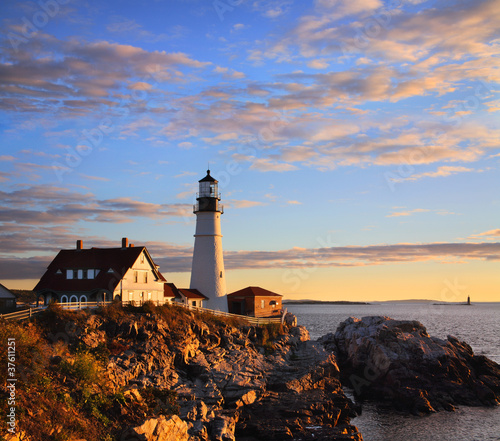 Morning At The Portland Headlight, Portland Maine
