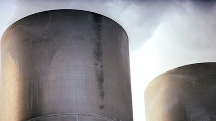 Chimneys & Steam from Geothermal Energy Plant