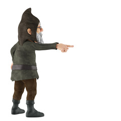 old gnome pointing