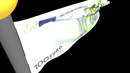 Banconota 100 euro al vento - 100 euros banknote in the wind