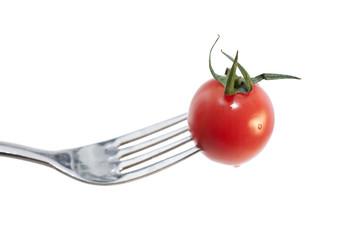 fourchette manger des légumes frais