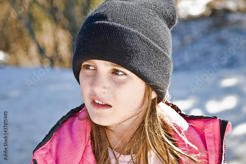 Young Girl in Snow