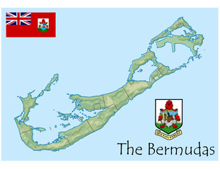 national emblem bermuda map coat